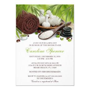 Join Us For A Spa Day Bridal Shower Invitations