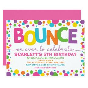 Jump Birthday Bounce House Trampoline Party Invitation