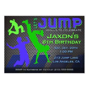 Jump Birthday Invitation - Bounce House Trampoline