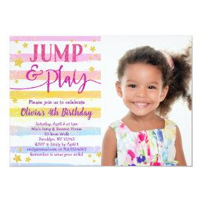Jump Birthday Invitations for Girls Bounce Party