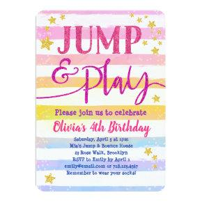 Jump Birthday Invitation Girls Jump & Play Party