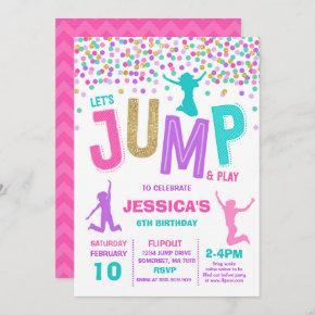 Jump Birthday Invitation Jump Trampoline Party