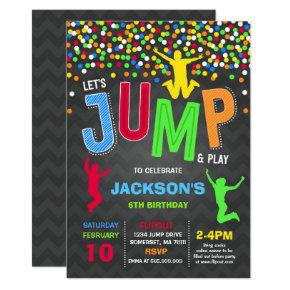 Jump Birthday Invitation Jump Trampoline Party