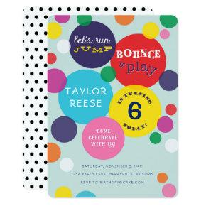 Jump Bounce House Birthday Invitations