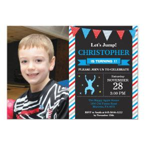 Jump Invitation Trampoline Birthday Party