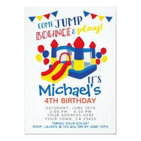 Jump Invitation, Trampoline Birthday Party Card