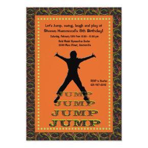Jumping Silhouette Invitation