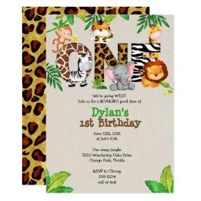 Jungle 1st Birthday Party
