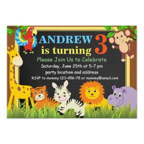 Jungle Birthday Invitations,Safari Birthday Invite