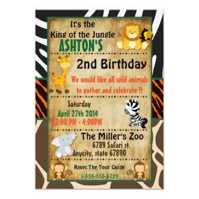 Jungle Safari Birthday Party Invitation
