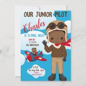 Junior Pilot Birthday Invitation