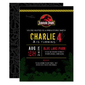 Jurassic Park | Dinosaur Birthday Invitations