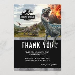 Jurassic World | Dinosaur Birthday Thank You Invitation