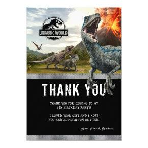 Jurassic World | Dinosaur Birthday Thank You Invitation