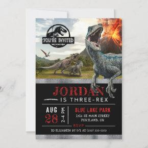 Jurassic World | Dinosaur Three-Rex Birthday Invitation