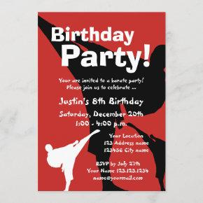 Karate Birthday party  for kids