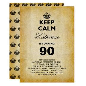 Funny 60th birthday invitations candied clouds keep calm vintage milestone birthday party invite filmwisefo