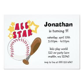 Kids Baseball All Star Birthday Party
