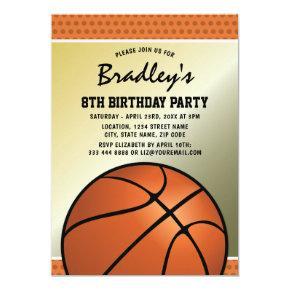 Kids Basketball Birthday Party | Black Jersey Card