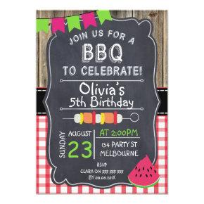 Kids BBQ Birthday Party Invitations