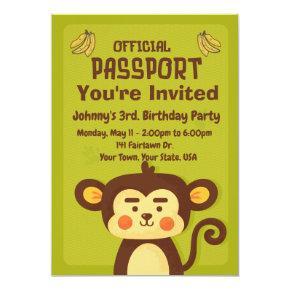 Kid's Birthday Passport Party Invitation