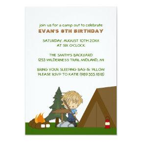 Kids Camp Out Birthday Party