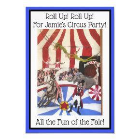 Kids Circus Party Invitations -Art Invite