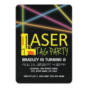 Kids Laser Tag Birthday Party Invitation