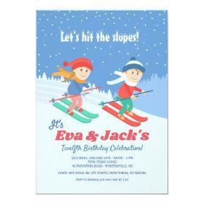 Kids on Skis Invitation