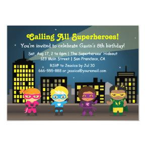 Kids Superhero Birthday Party