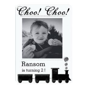 Kid's train birthday party Invitations. Invitations