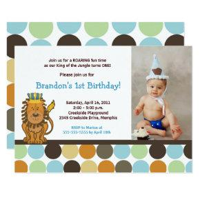 King of the Jungle *PHOTO* Birthday 5x7 Invitation