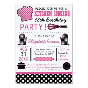 Kitchen Cooking Birthday Party Invitation