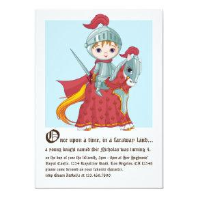 Knight in Shining Armor Birthday Invitation