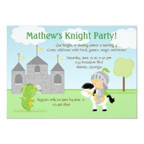 Knight Party Invitations