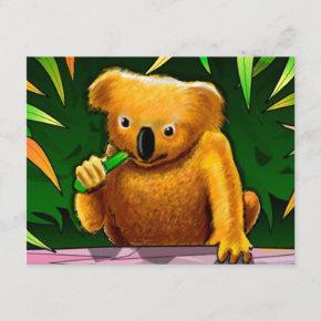 KOALA BEAR JUNGLE BIRTHDAY PARTY INVITATION