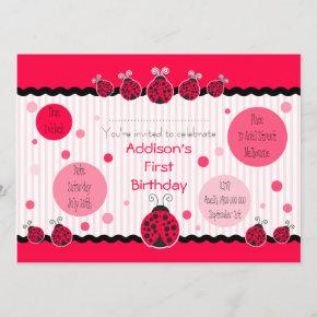 Ladybug Ladybird Invitation