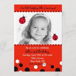 Ladybug Photo Birthday Party