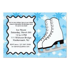 Ice Skating Party Birthday Invitations Candied Clouds
