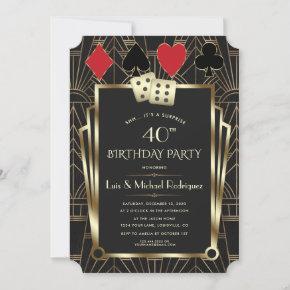 Las Vegas Casino Royale Great Birthday Invitation