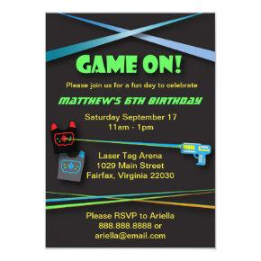 Laser Tag Birthday or Team Building Party Invitation
