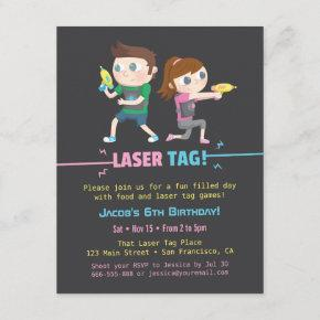 Laser Tag Game Kids Birthday Party
