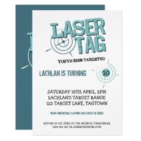 Laser Tag Party Invitation Template