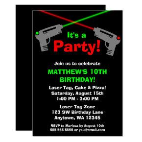 Laser Tag Red Green Birthday Party
