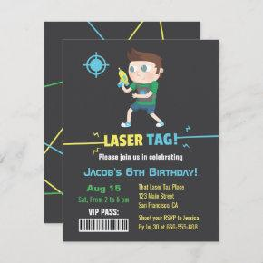 Laser Tag VIP Pass Boys Birthday Party