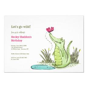 Later Alligator Birthday Party Invitation
