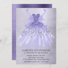 Lavender Iridescent Purple Pixie Gown | Party Invitation