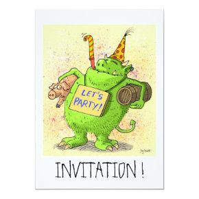 let´s party ! funny invitation