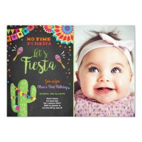 Let's Fiesta Invitations Mexican Birthday Cactus