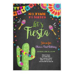 Let's Fiesta Invitations Mexican Birthday Cactus